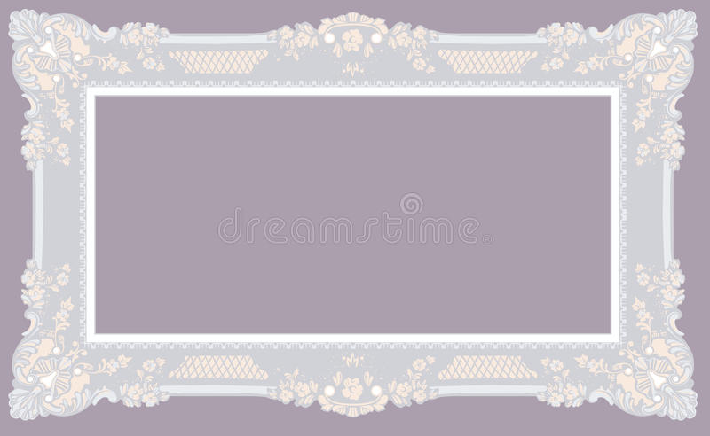 Download Light Gray Baroque Frame stock vector. Image of background - 28997329