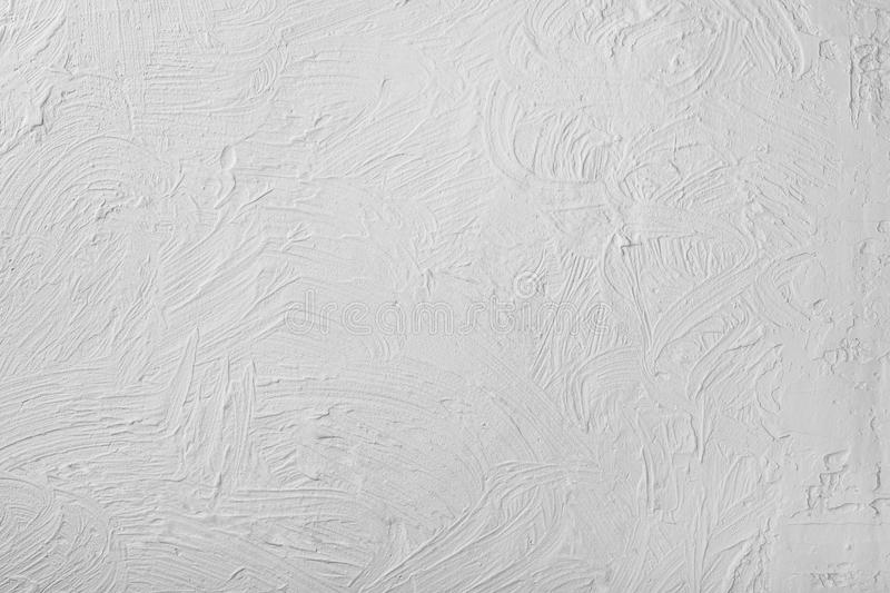 Light Gray Concrete Plaster Wall Of Abstract Texture Background. royalty free stock photography
