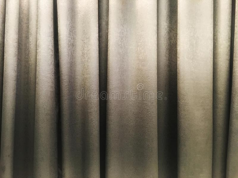 Light gray curtain texture interior decoration in room. royalty free stock photo