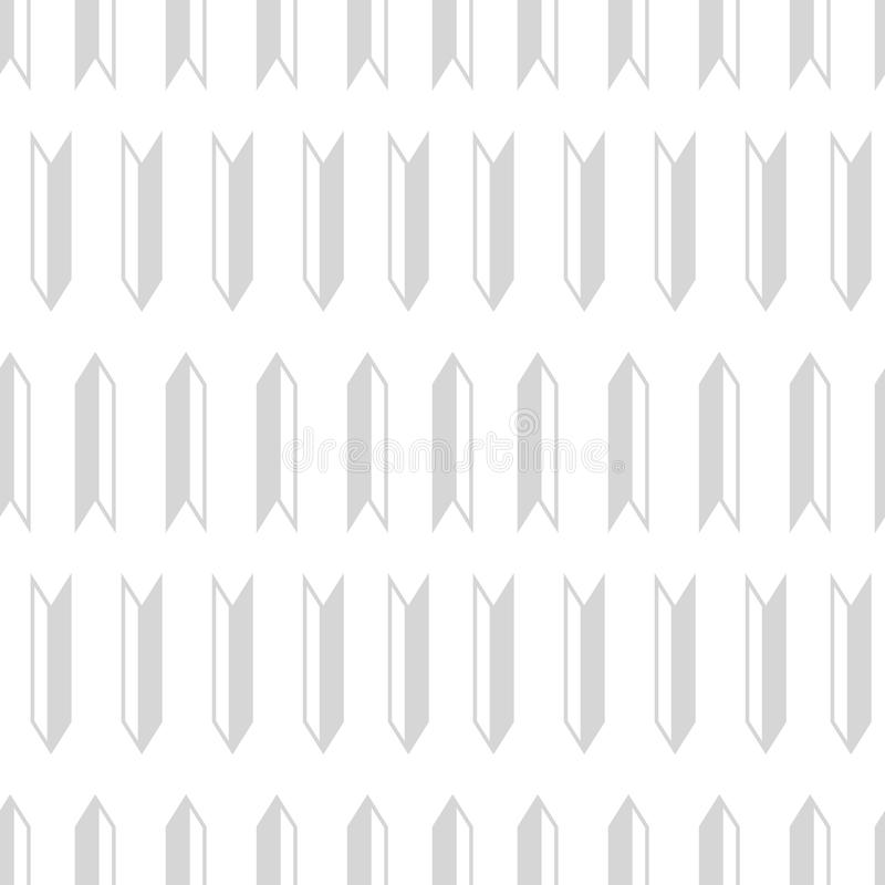 Light gray geometric arrows seamless pattern design. royalty free illustration