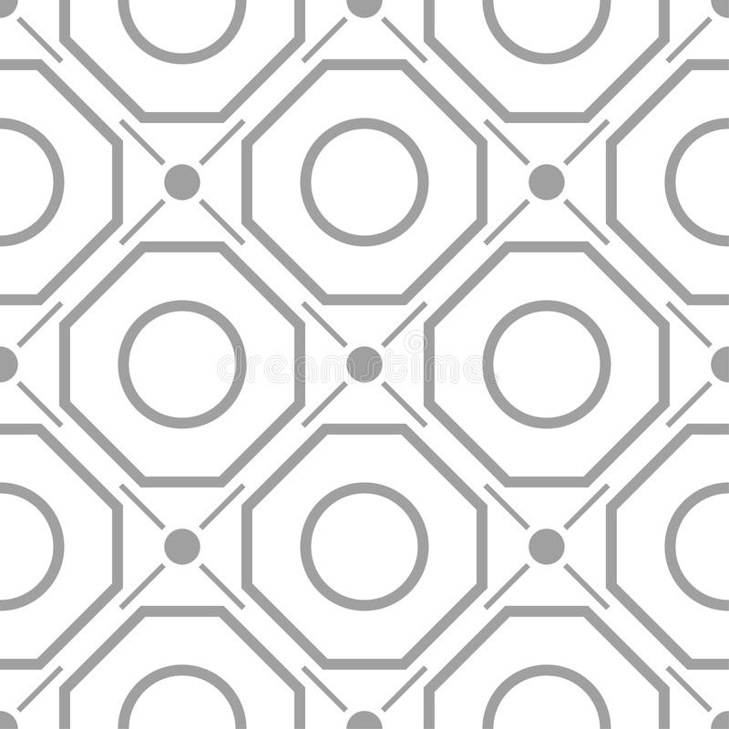 Light gray geometric ornament. Seamless pattern vector illustration