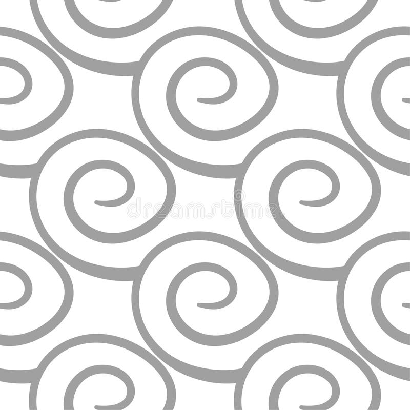 Light gray geometric ornament. Seamless pattern. For web, textile and wallpapers stock illustration