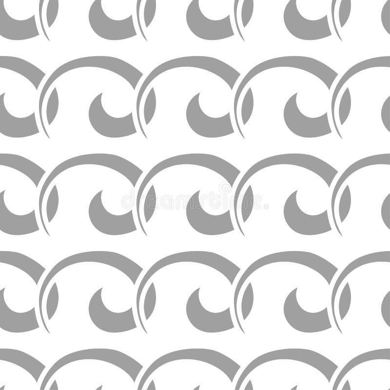 Light gray geometric ornament. Seamless pattern stock illustration