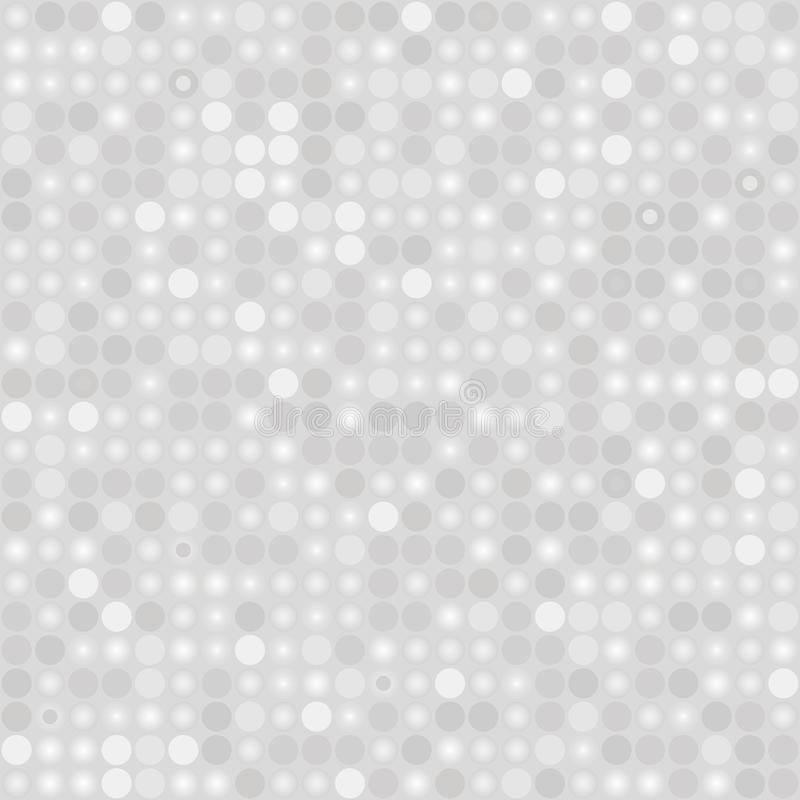 Light gray silvery seamless pattern with balls royalty free illustration