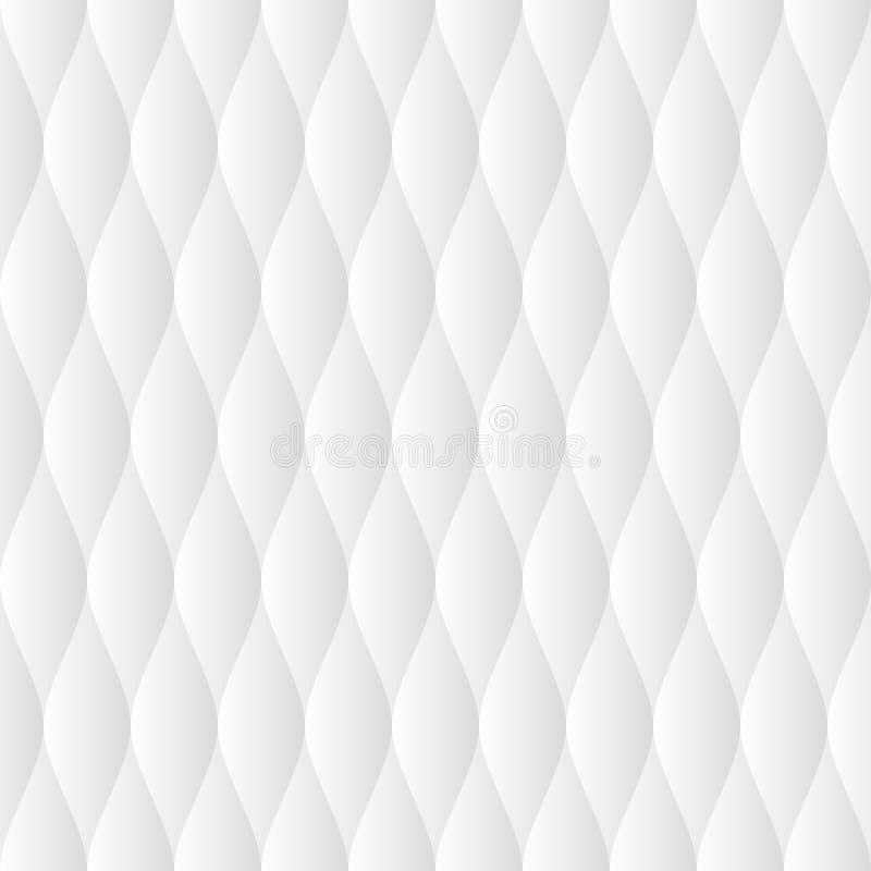 Light gray soft quilt seamless pattern. Neutral white tileable vector background vector illustration