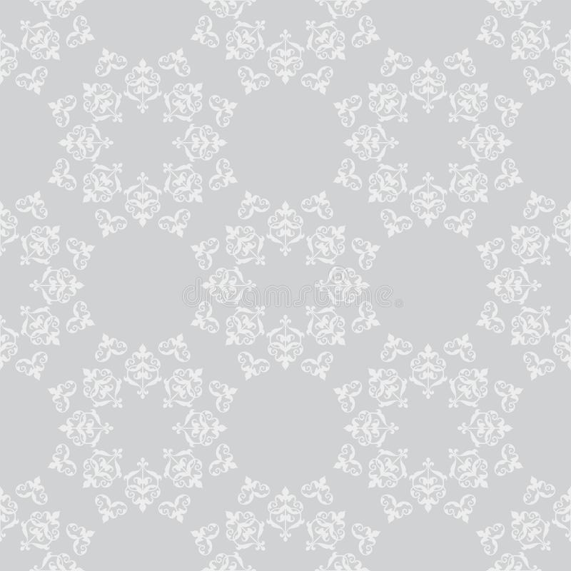 Light gray vector seamless pattern with vintage ornament royalty free illustration