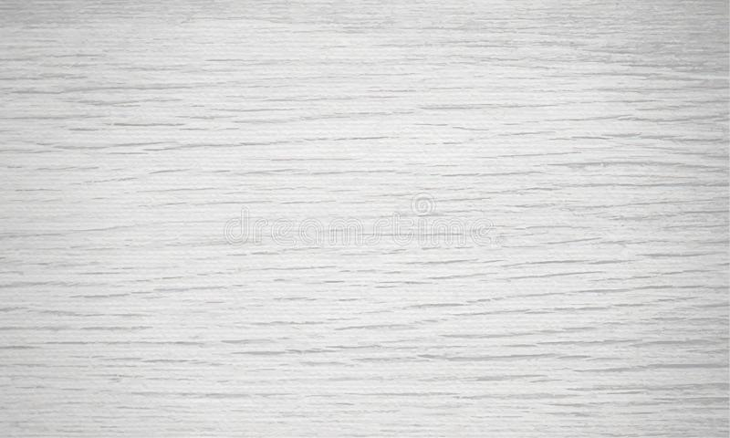 Light gray wood texture background. Natural pattern swatch horizontal template. Vector illustration stock illustration