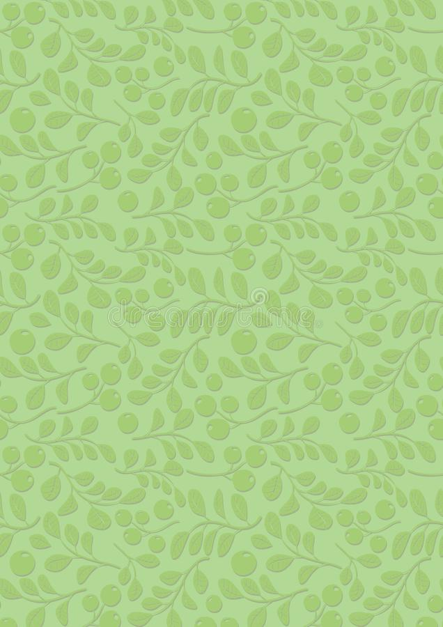 Light green background with floral pattern - vector A4 vector illustration