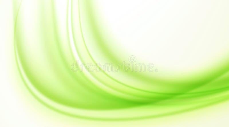 Light green bending waves on white background,simple and decent background. Light green bending waves on white background ,useful for web banner and poster stock illustration