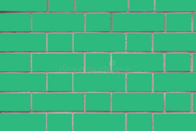 Light green brick wall. Vector graphics. Background image of a brick wall. Textural abstract image royalty free stock photography