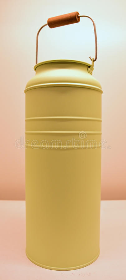 Light Green Color Milk Can royalty free stock image