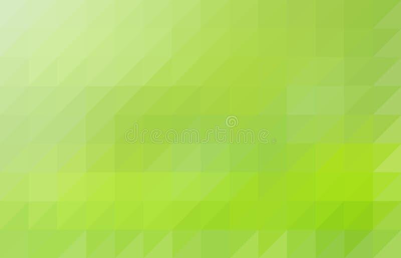 Light green colored triangular pattern background vector illustration