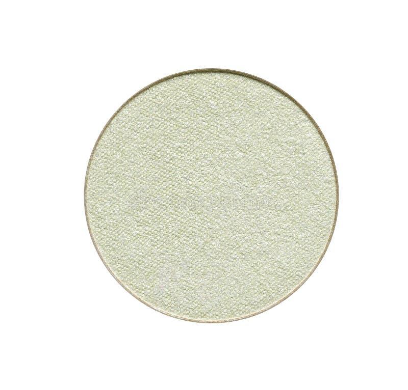 Light green eyeshadow or make up face powder stock photos