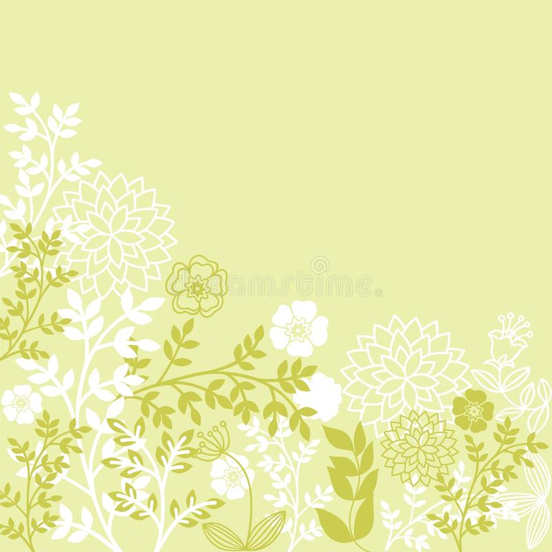 Light green floral patterns royalty free stock photos