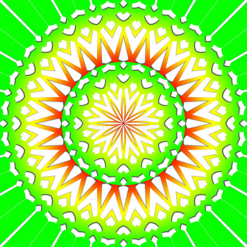 Light green flower mandala vector illustration
