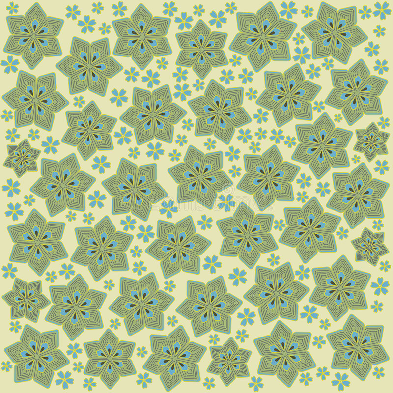 Light green flowers vector illustration