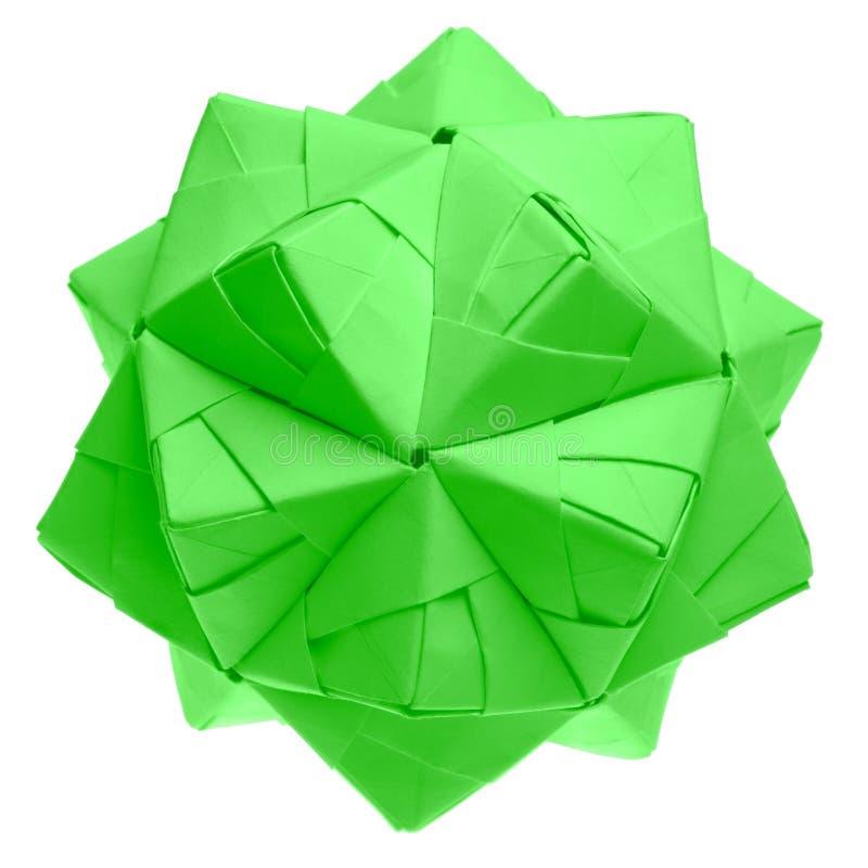 Modular origami - kusudama. Isolated on white. royalty free stock photography