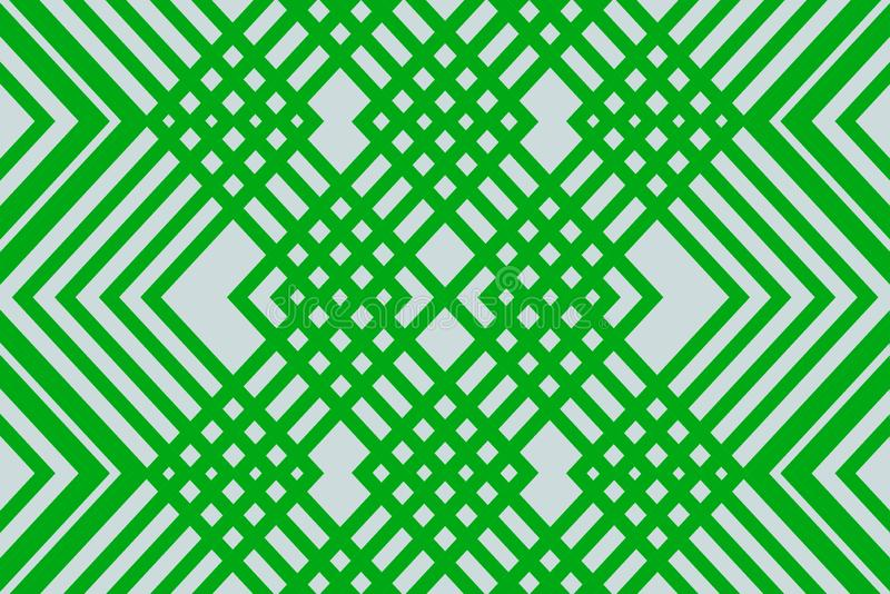 Light green ornament pattern. Uncomplicated simple background from the ornament of green lines on a light background vector illustration