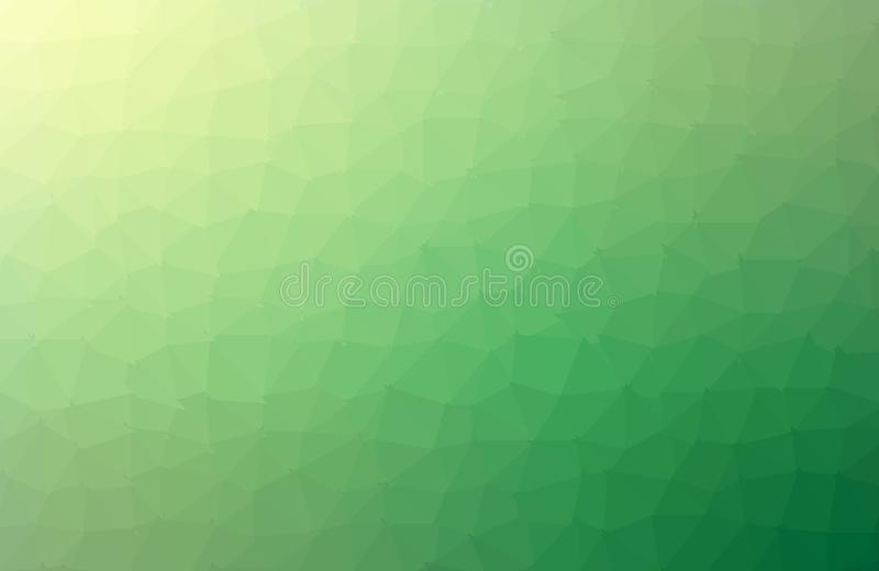 Light Green vector abstract textured polygonal background. Blurry triangle design. Pattern can be used for background. - Vector. Geometric rumpled triangular royalty free illustration