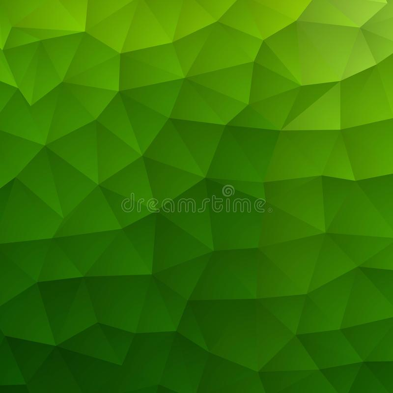 Light Green vector blurry hexagon pattern. Creative geometric illustration in Origami style with gradient. The template can be royalty free illustration
