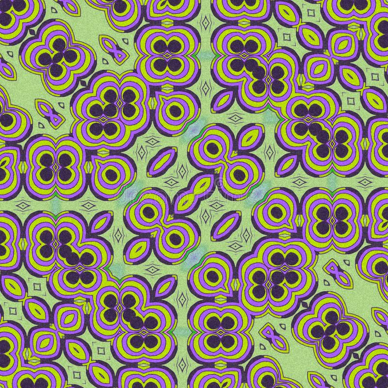 Light green and violet  colors.. Abstract draw. Draw with effects and abstract forms. Green and violet colors royalty free illustration