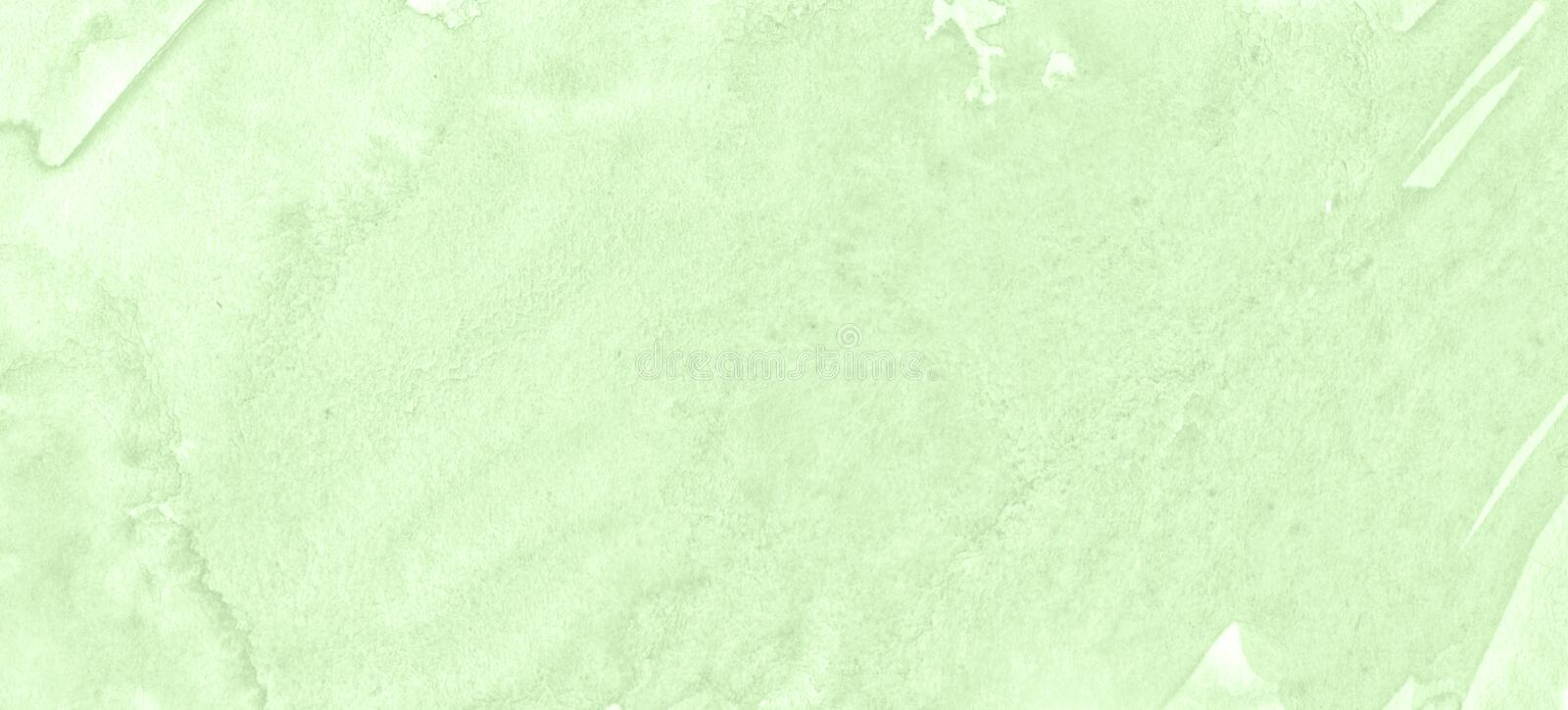 Light green watercolor frame with torn strokes and stripes. Abstract background for design stock images