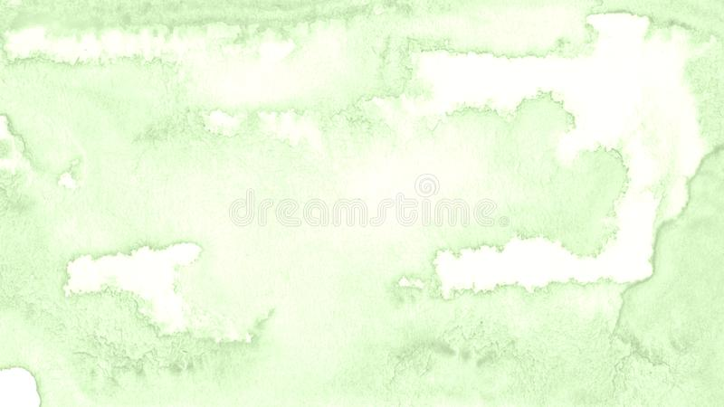 Light green watercolor frame with torn strokes and stripes. Abstract background for design. Layouts and patterns royalty free illustration
