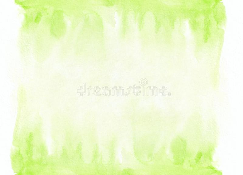 Light green watercolor gradient running stain. Beautiful abstract background for designers, mock-ups, invitations royalty free stock images