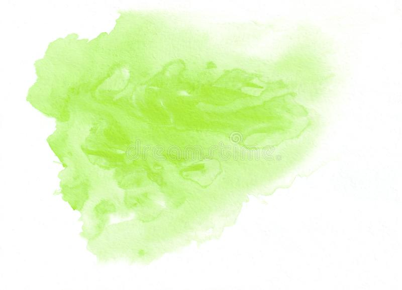 Light green watercolour gradient running stain. Beautiful abstract background for designers, mock-ups, invitations, postcards, lik royalty free illustration