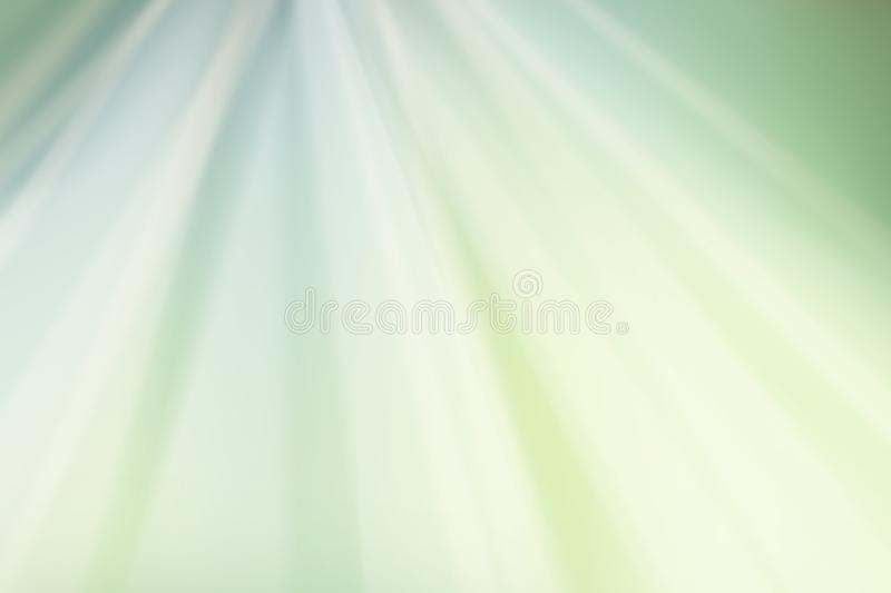 Light green white and yellow rippled background design with waves of color in starburst or sunburst pattern stock illustration