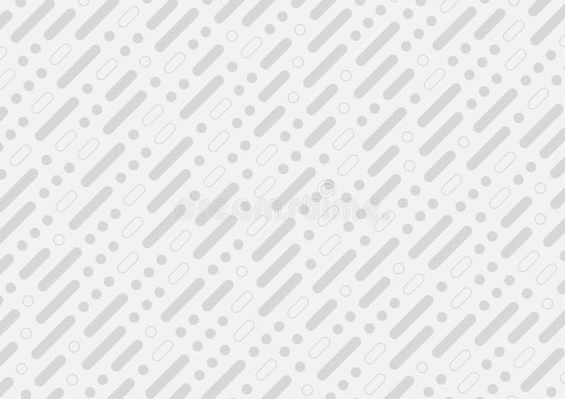 Grey tech abstract minimal pattern background. Light grey tech abstract minimal pattern vector background stock illustration