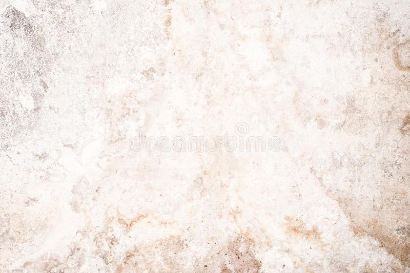 Light grunge texture of old cracked concrete wall, destroyed plaster layer of antique surface royalty free stock photos