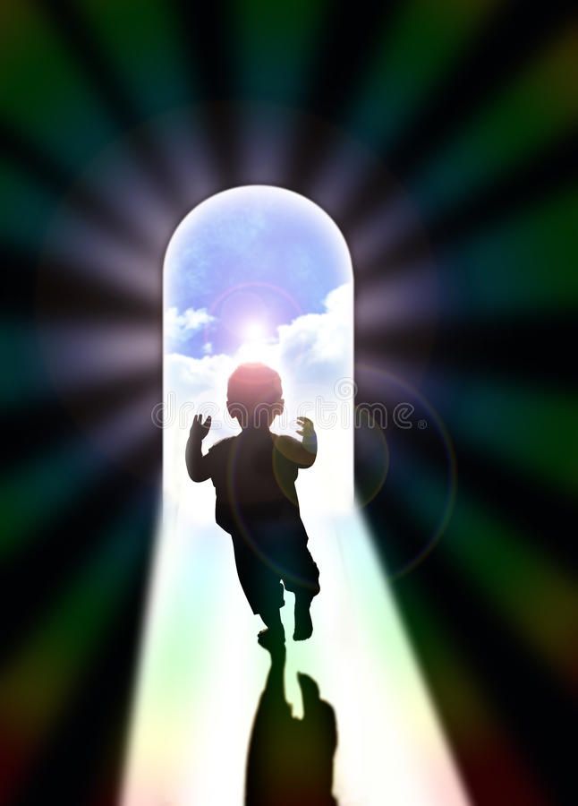 Light of hope stock illustration