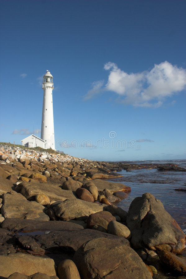 Light House. At Kommetjie, Western Cape, South Africa stock image