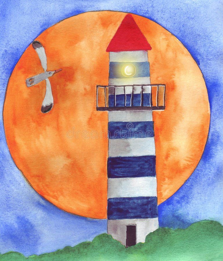 Download The light-house stock illustration. Image of animal, forest - 8426065