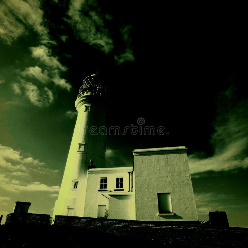 Light House Dramatic View And Sky Stock Photo - Image of ...