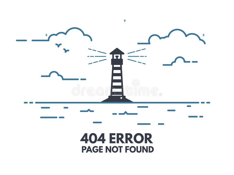 Light house 404 vector illustration