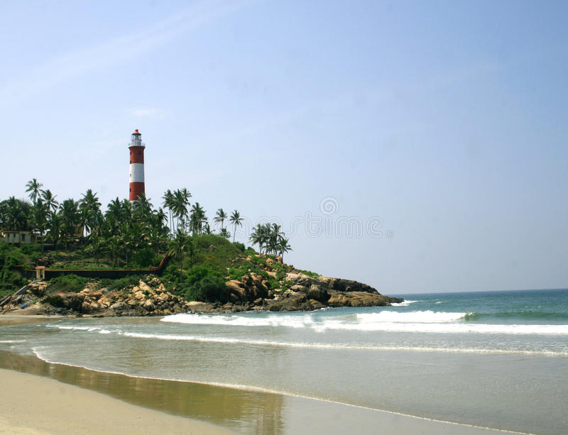 Download Light house at Kovalam stock photo. Image of tourism - 14461420