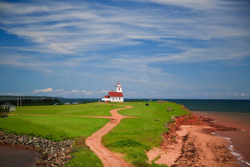 Light House at PEI. The light House at PEI at East Canada royalty free stock photos