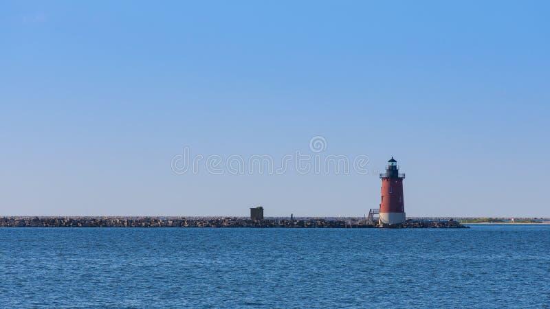 Lighthouse at Seashore State Park stock photo