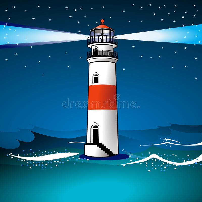 Download Light house and twilight stock vector. Image of coast - 17834805