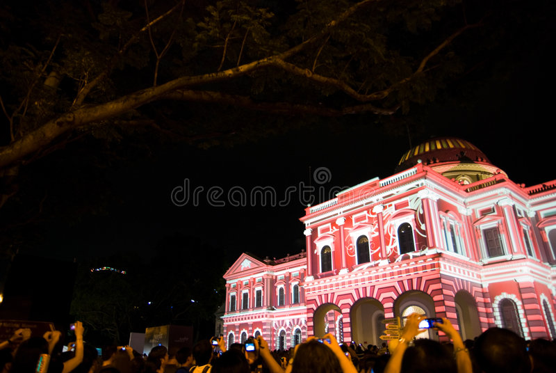Light Installation; National Museum Singapore royalty free stock images