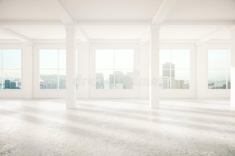 Light interior with columns vector illustration