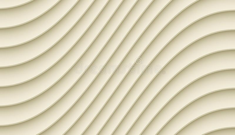 Light ivory beige smooth diagonal curved lines abstract wallpaper background. High resolution computer generated abstract fractal background wallpaper design stock illustration
