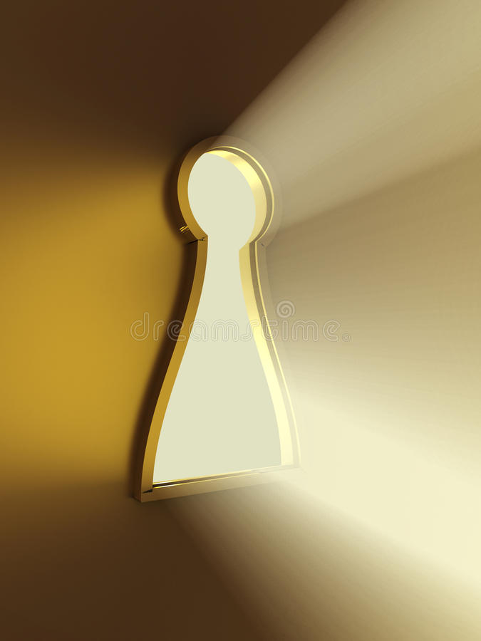 Download Light From The Keyhole. 3D Image Stock Illustration - Image: 22727357