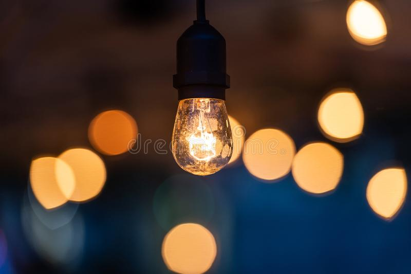 Light lamp electricity hanging decorate home interior. In christmas day royalty free stock photography
