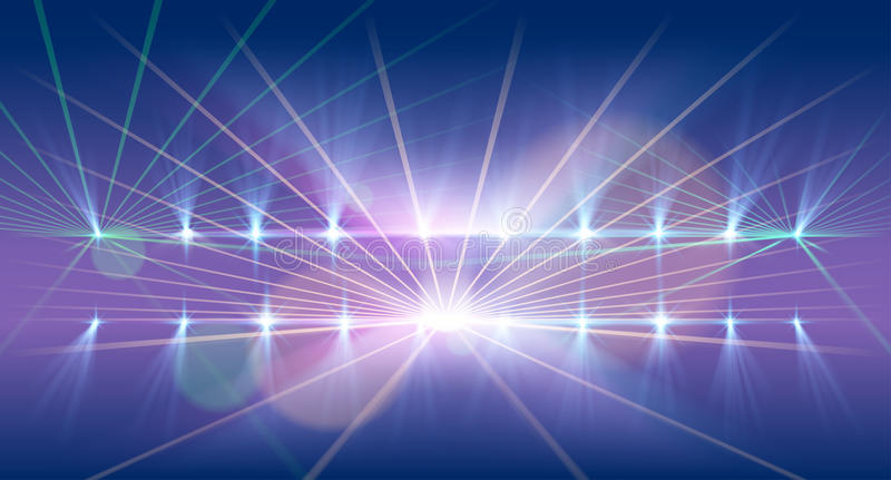Light and laser show background royalty free illustration