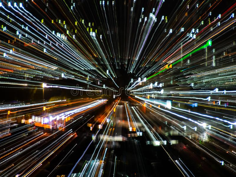 Blast zoom effect stock photography
