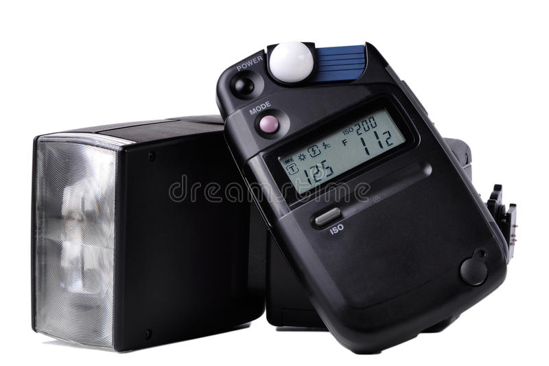 Download Light meter and Flash stock photo. Image of meter, light - 21733484