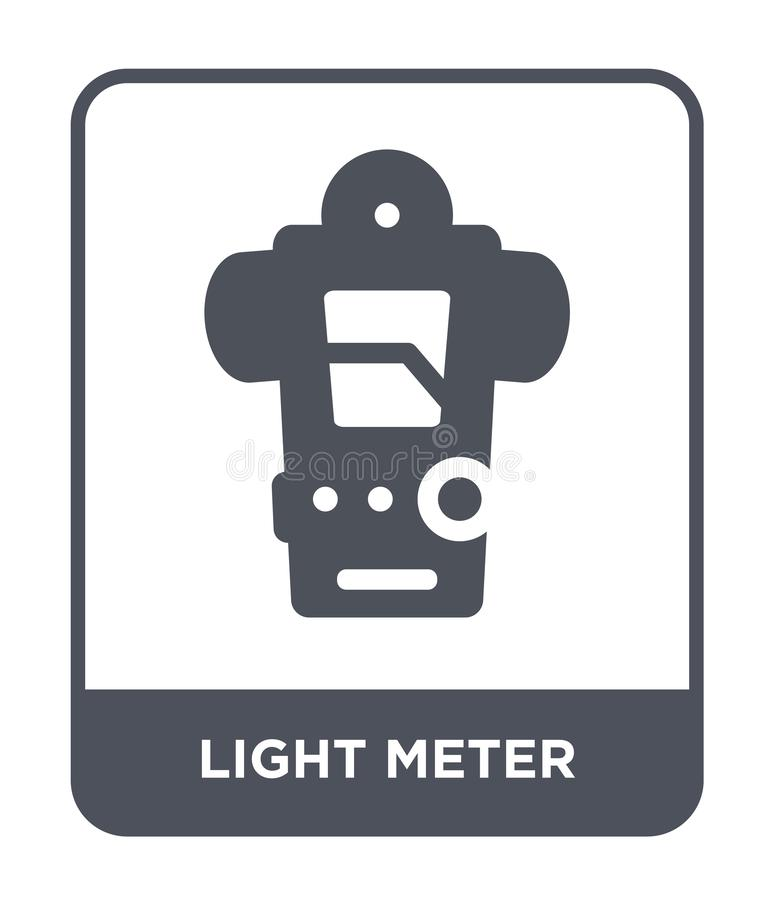 light meter icon in trendy design style. light meter icon isolated on white background. light meter vector icon simple and modern vector illustration
